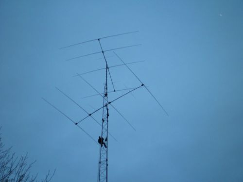 36m Mast mit Steppir stack 4 over 4